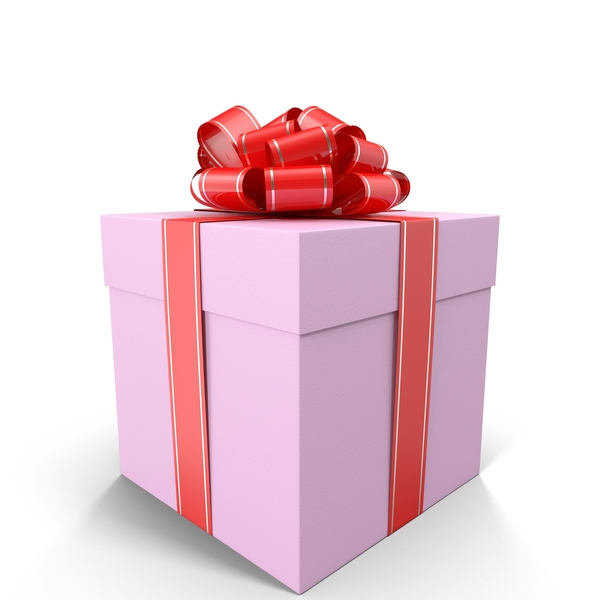 Pink Gift Box with Red Bow PNG Images & PSDs for Download.