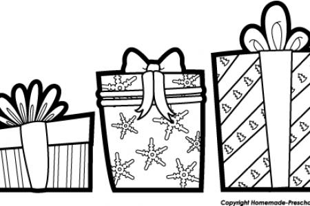 Present black and white christmas t clip art black and white.