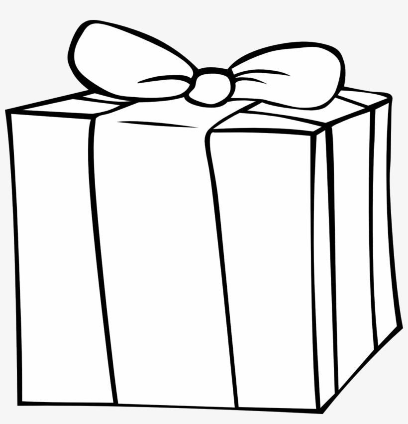 Present Black And White Birthday Presents Clipart Black.