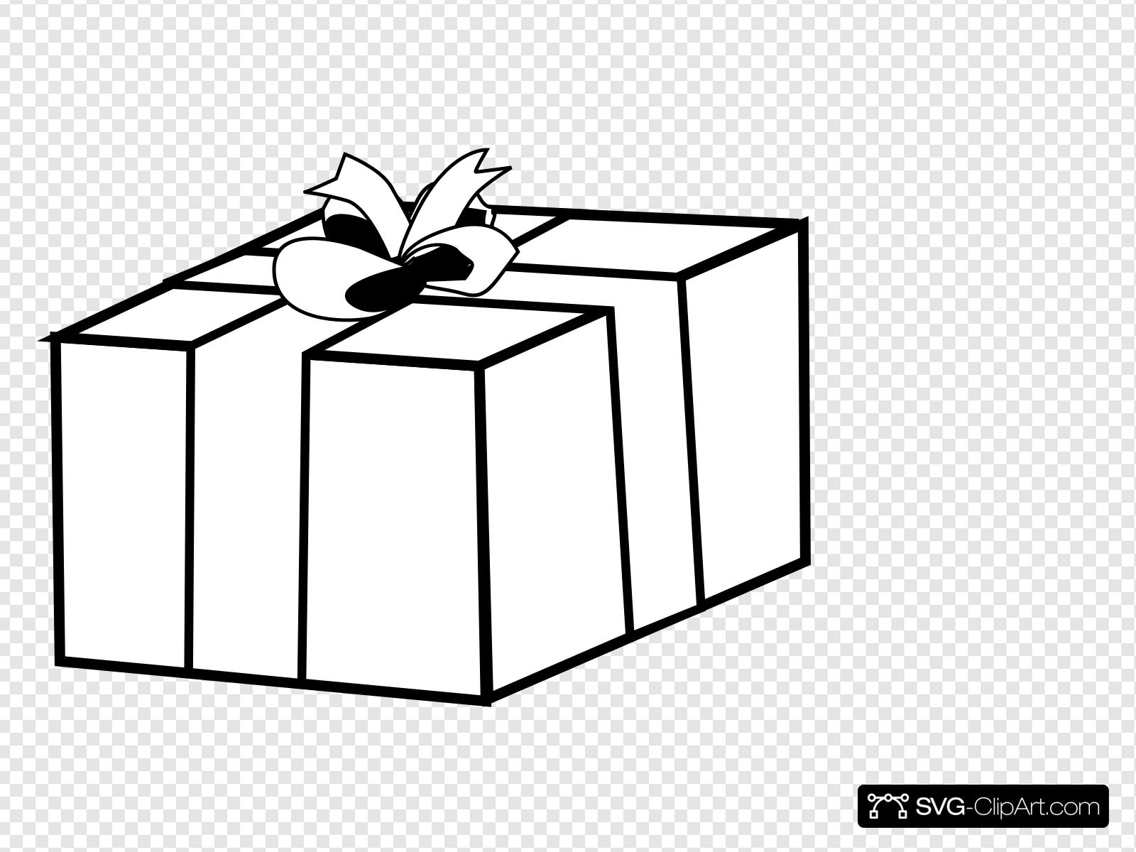 Gift Present Outline Clip art, Icon and SVG.