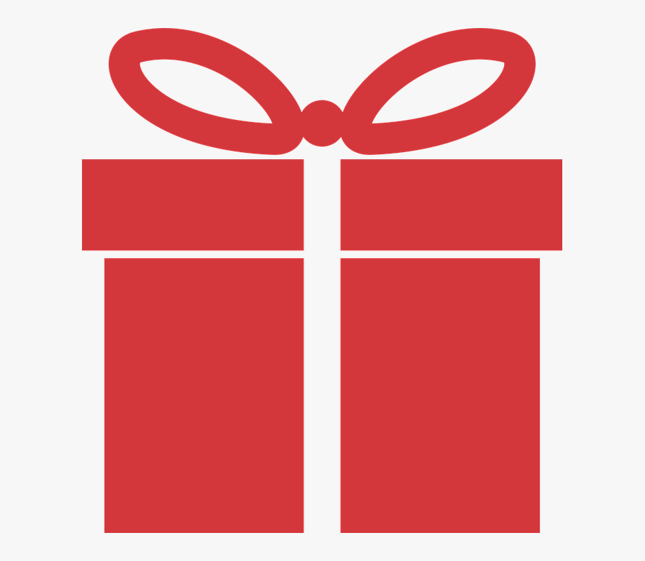 Red, Icon, Present, Gift, Wrapped, Christmas, Holiday.