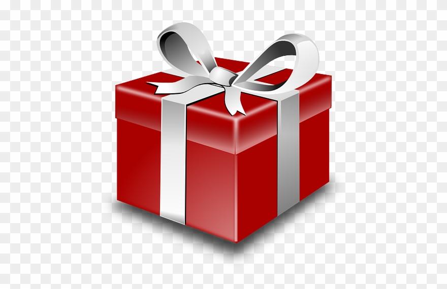 Present Gift Red Ribbon Box Png Image.