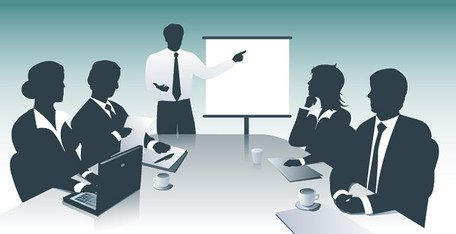 Business Meeting & Presentation Clipart Picture.