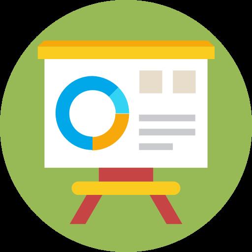 Analytics, board, presentation icon.