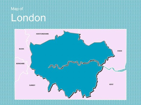 Map of London Template.