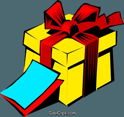 Gift Royalty Free Vector Clip Art illustration.