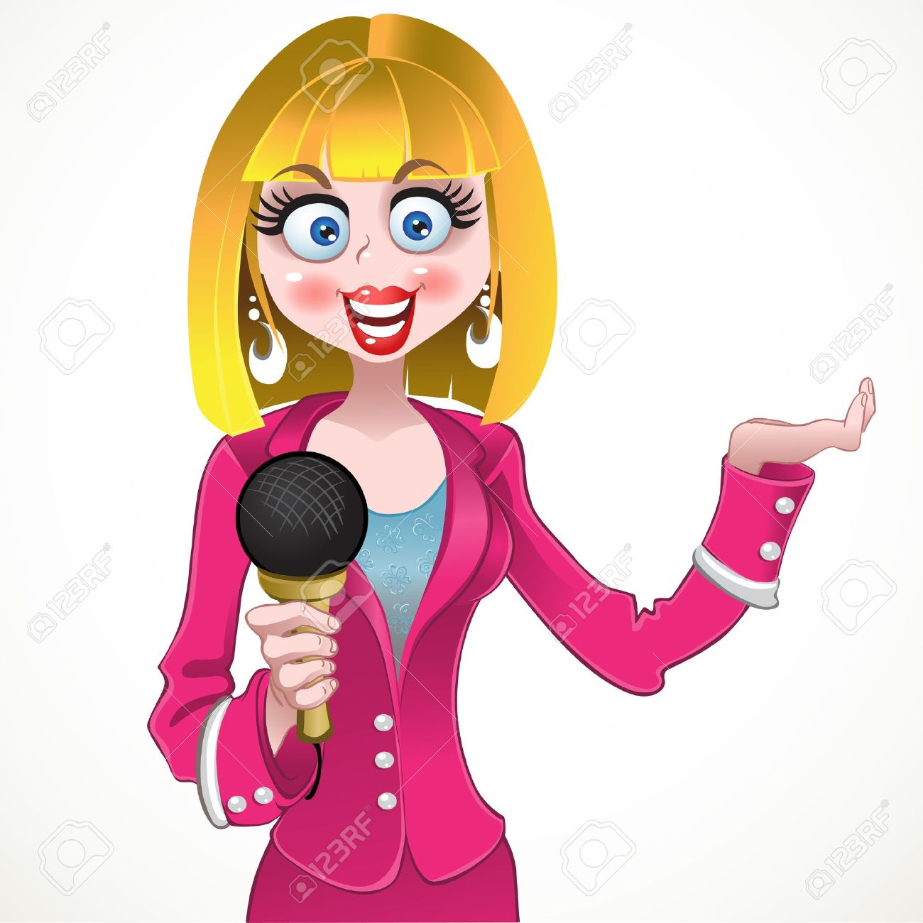 TV Presenter Clip Art.