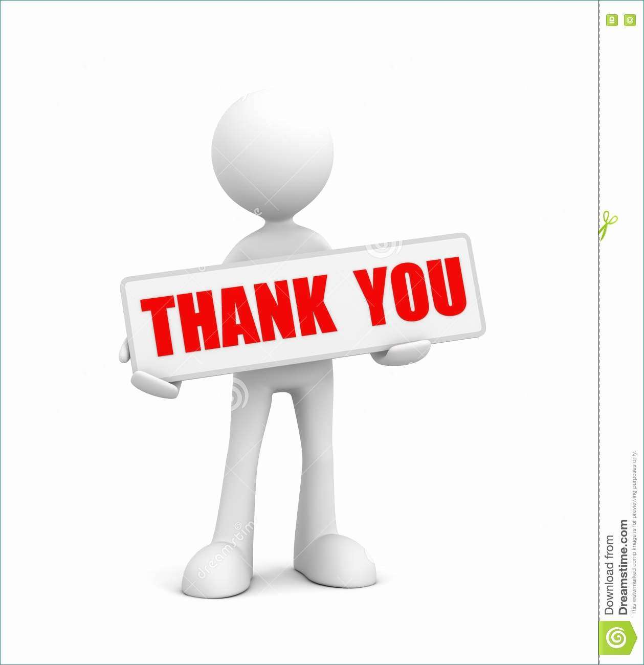 Presenter media powerpoint Likeable 3D clipart thank you.