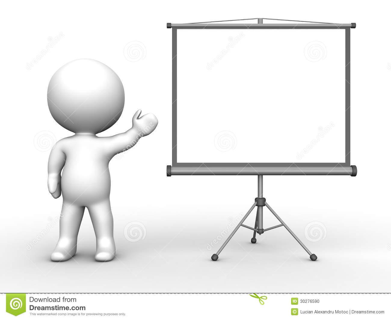Person Presenting Clipart.