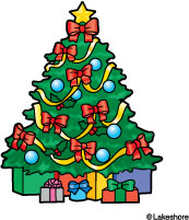 clip art presents under christmas tree.