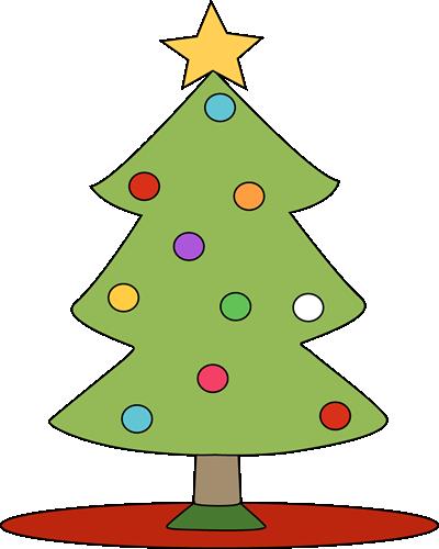 Christmas Tree on Red Tree Skirt.