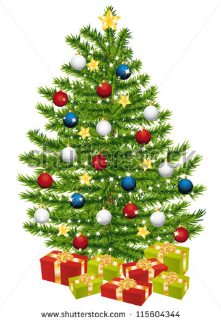 Presents Under Christmas Tree Stock Vectors, Images & Vector Art.