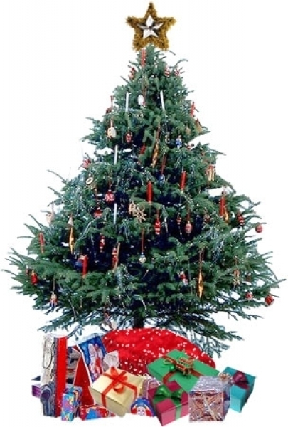 Animated Christmas Tree With Presents.