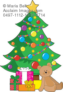 Christmas Tree And Presents Clipart.