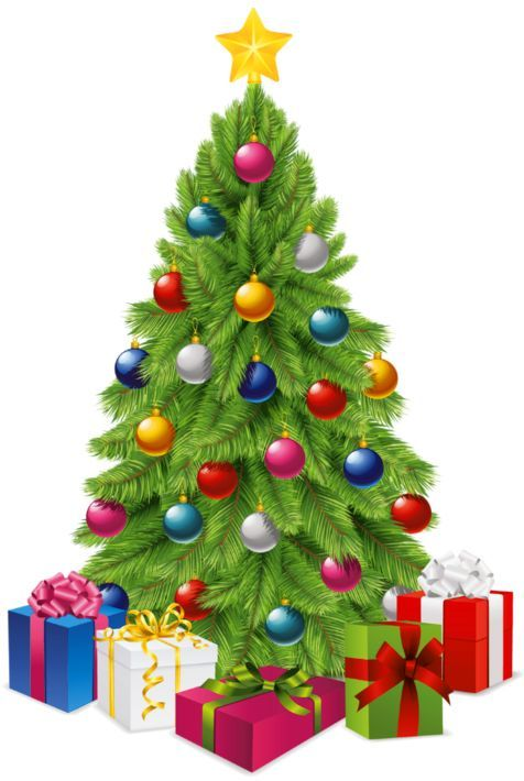 40 Awesome presents under a christmas tree clip art.