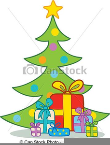 Presents Under Christmas Tree Clipart.