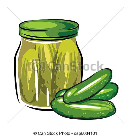 Vector Clip Art of %u0441anned pickles.