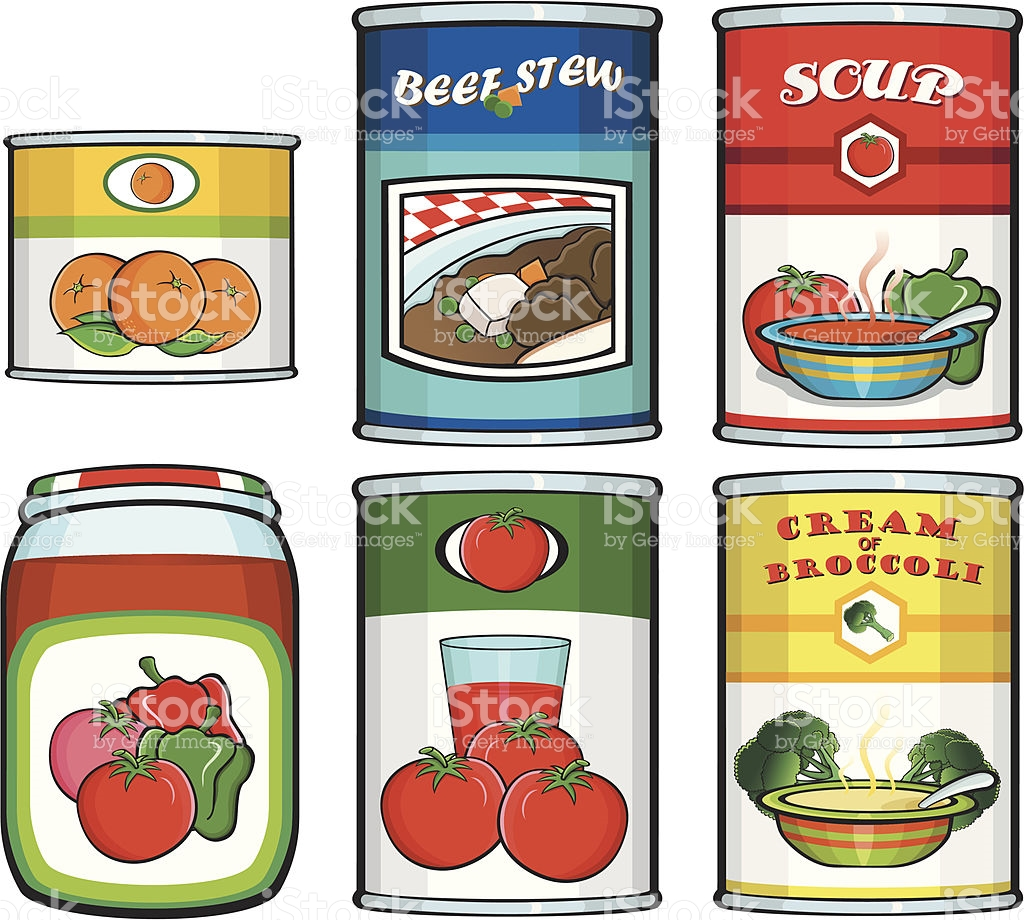 Canned Food stock vector art 165487914.