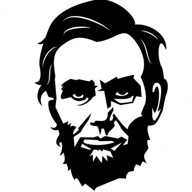 Abraham lincoln clipart abstract, Abraham lincoln abstract.