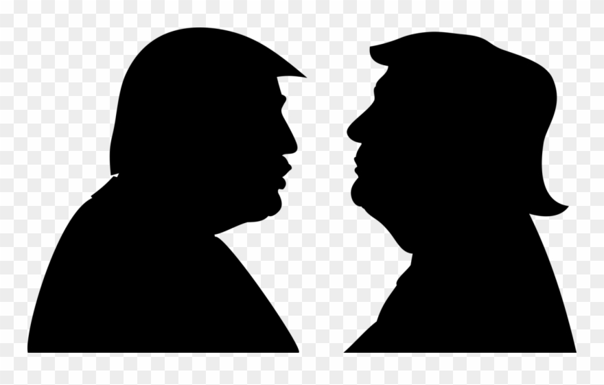 President Of The United States Silhouette Trump.