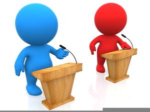 Presidential Debate Clipart.
