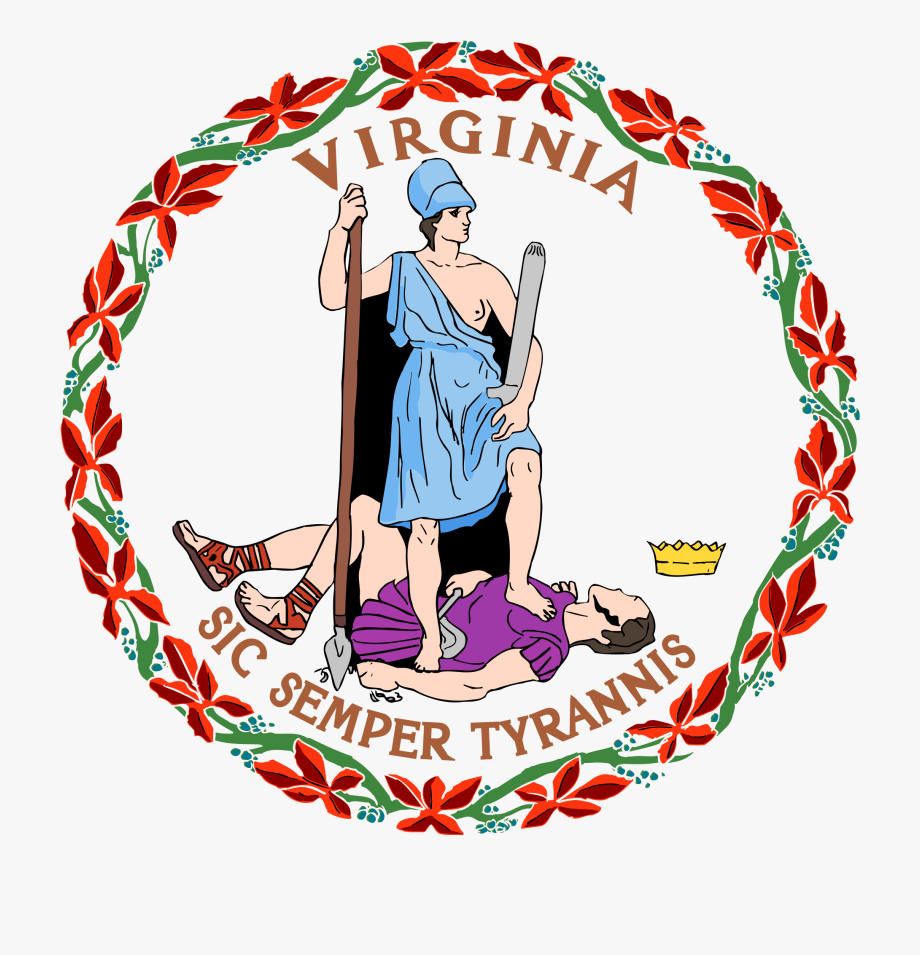Sic Semper Tyrannis Virginia Seal Clipart , Png Download.