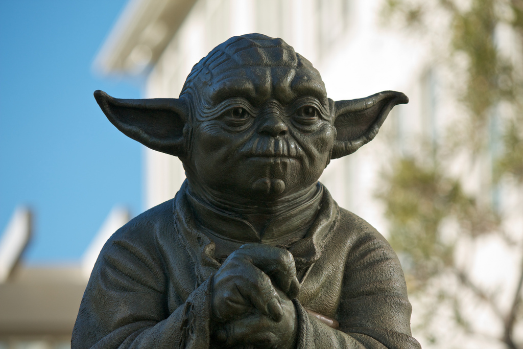 Yoda Fountain at the Presidio, San Francisco.