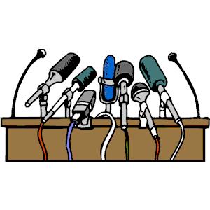 Press Conference Clipart #1.