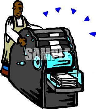 Printing Press Clipart.
