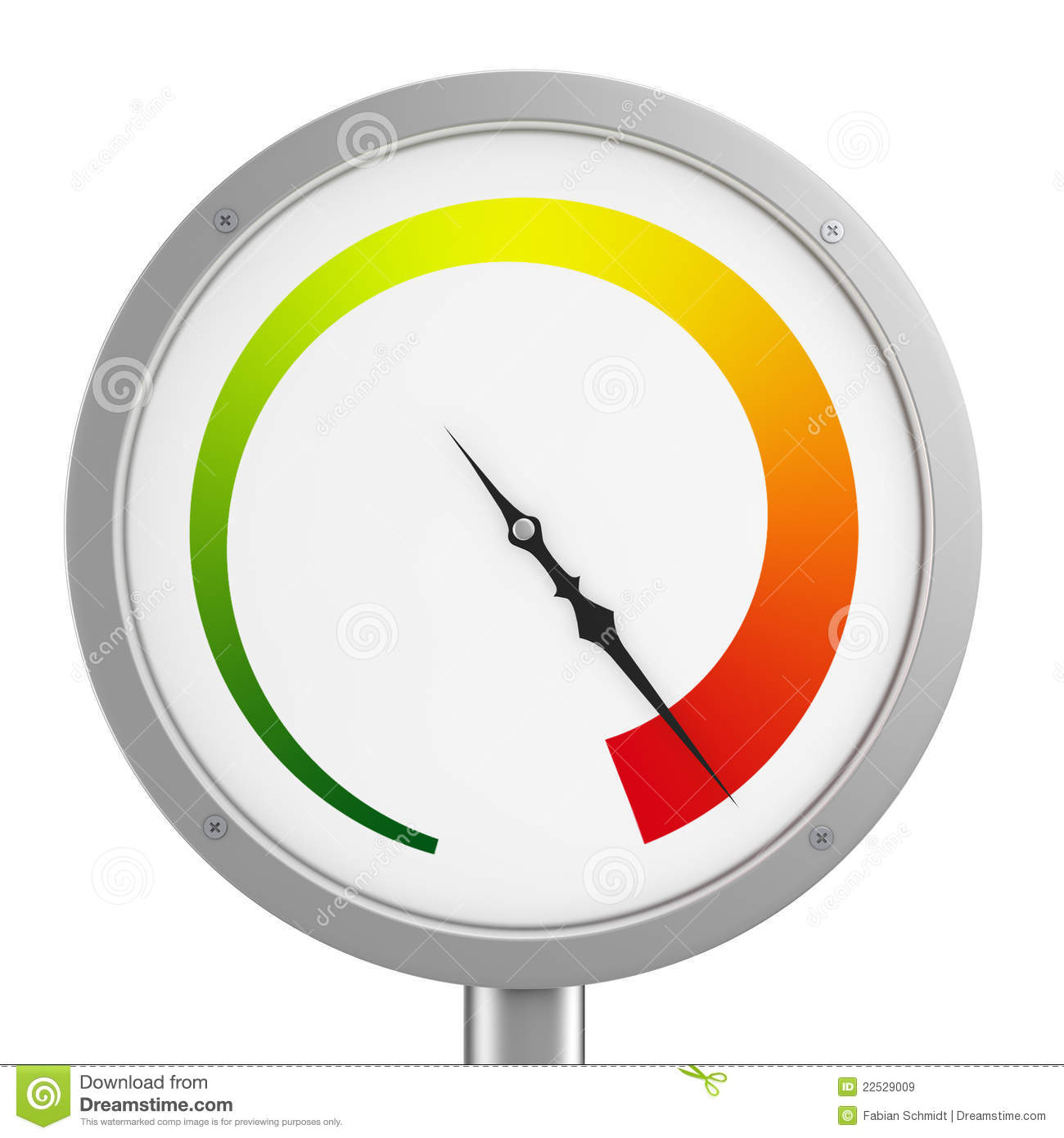 Gauge high pressure clipart.