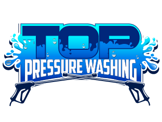 Top Pressure Washing logo design.