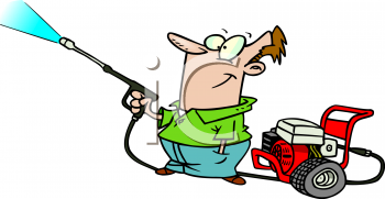 Girl Paint Pressure Washer Clipart & Cli #315264.