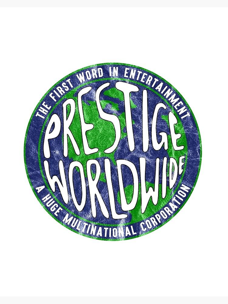 \'Prestige Worldwide logo inspired by Step Brothers\' Art Board Print by  landobry.