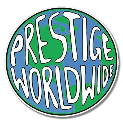 Prestige Worldwide Vinyl Sticker.