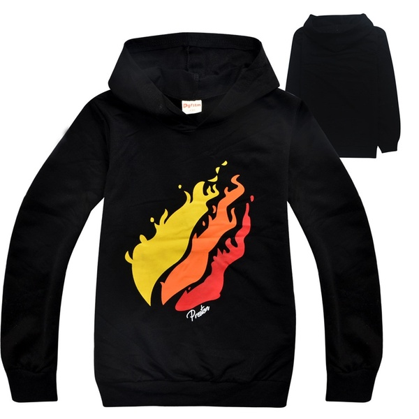 PrestonPlayz Hoodie Fire Logo Inspired Sweatshirts Preston Playz Merch For  6.