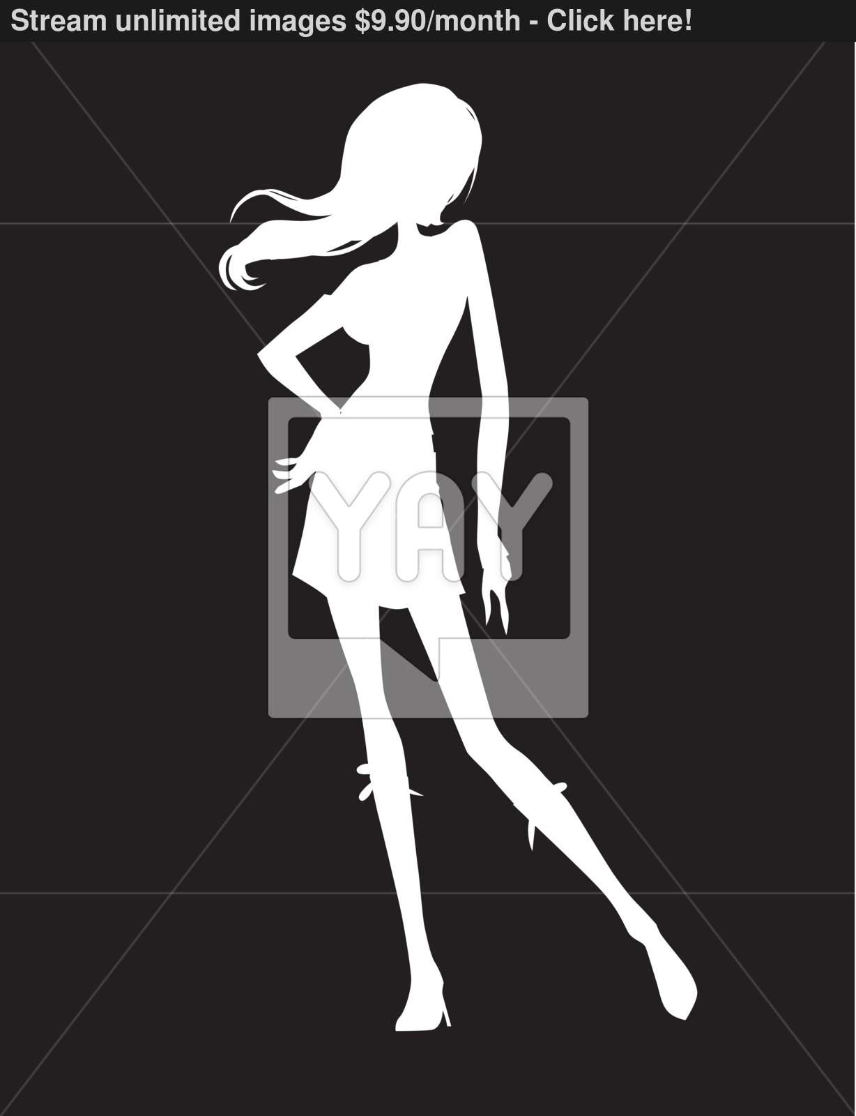 Teen Girl Woman Vector Design Illustration Clipart vector.