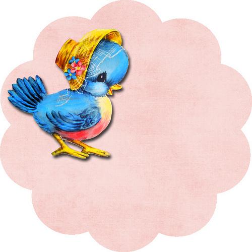 Vintage Bluebird Clipart.