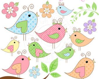 Pretty Bird Clipart.
