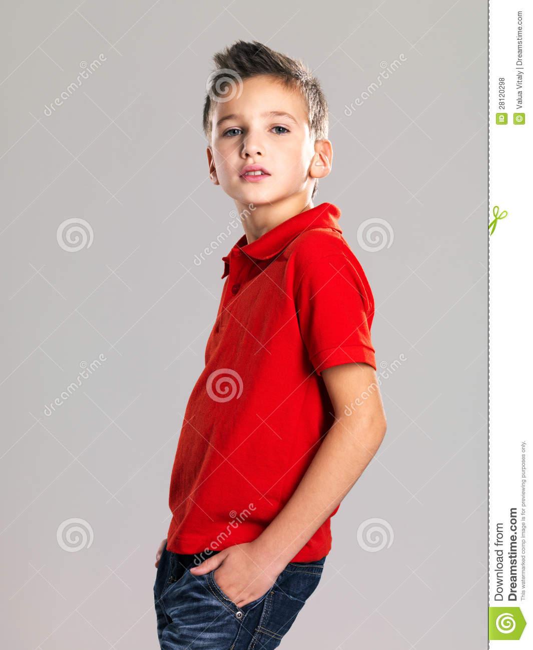 Pretty Boy Posing At Studio As A Fashion Model. Royalty Free Stock.