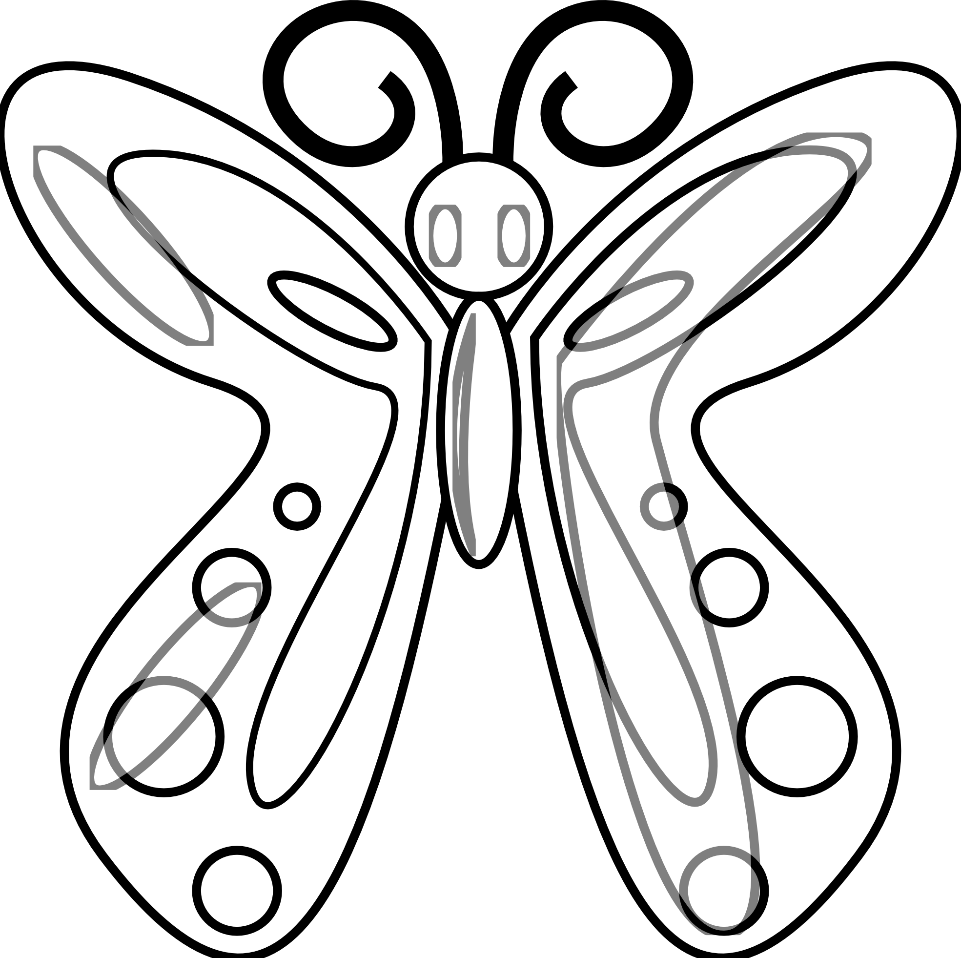 Butterfly Clip Art Black And White.