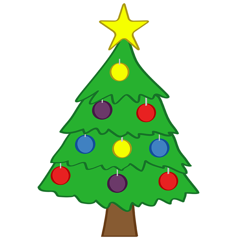 Cute Christmas Tree Clipart.