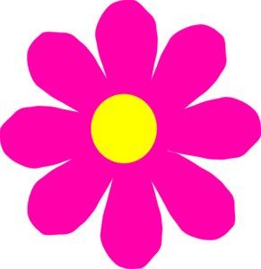 Pretty Pink Flower Clip Art at Clker.com.