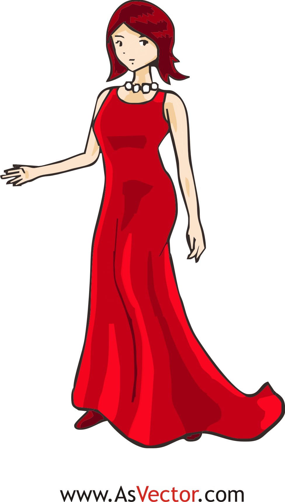 Pretty Dress Clipart.