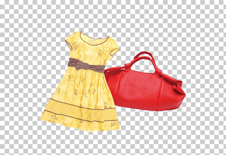 Dress Skirt, Pretty dress,bag PNG clipart.
