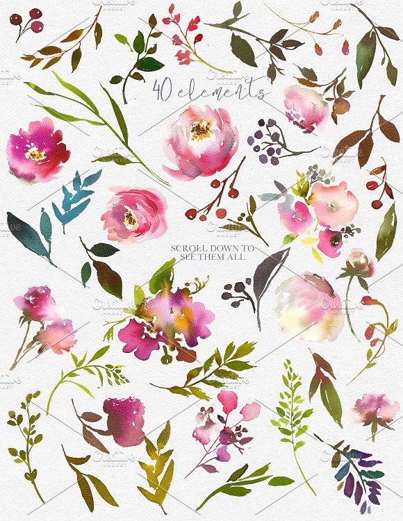 Fresh Scent Pretty Floral Clipart.