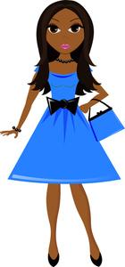 Pretty Girl Clipart Image:.