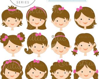 Cute Baby Face Girl Clipart.