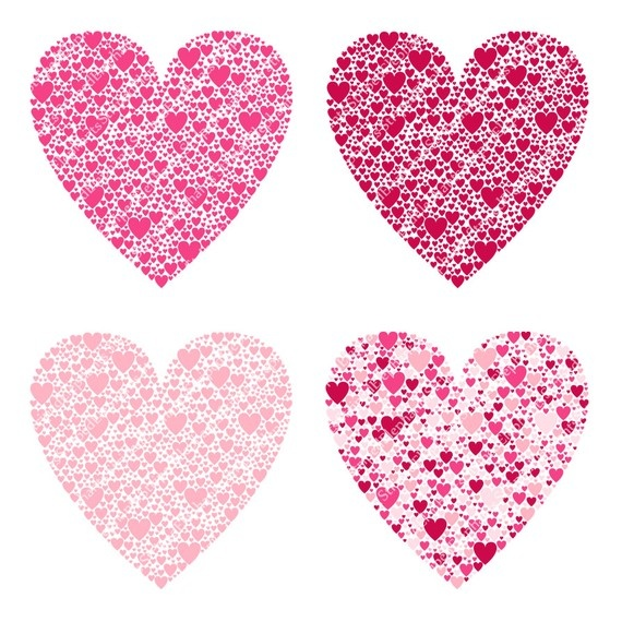 Pretty Hearts Clipart.