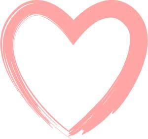 Brush Stroke Heart Clipart.