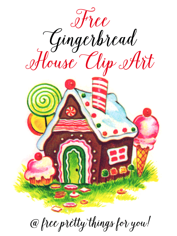 Christmas Images: Gingerbread House Clip Art.
